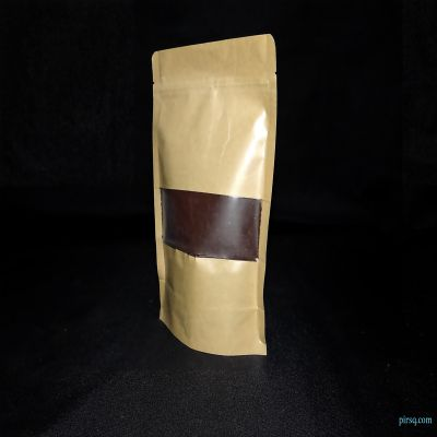 "LDPE Laminated Stand Up Paper Pouches | W-6"" X L-9"" Image"