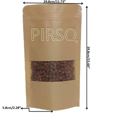 "KRAFT STAND UP PAPER POUCHES WITH WINDOW | W-11.5"" X L-15.5"" Image"