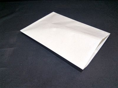 "White Polycoated Sealable Paper Pouch | W-10"" x H-14"" Image"