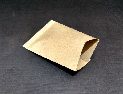 "Brown Polycoated Sealable Paper Pouch | W-4"" x H-6""  Image"