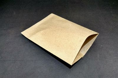 "Brown Polycoated Sealable Paper Pouch |  W-7"" x H-9""  Image"