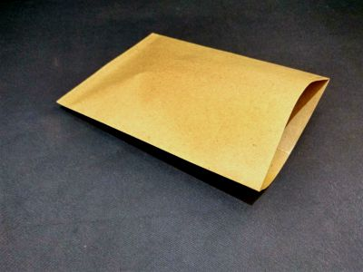"Brown Polycoated Sealable Paper Pouch | W-8"" x H-11"" Image"