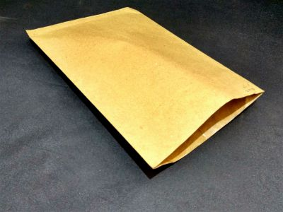 "Brown Polycoated Sealable Paper Pouch | W-10"" x H-14""  Image"