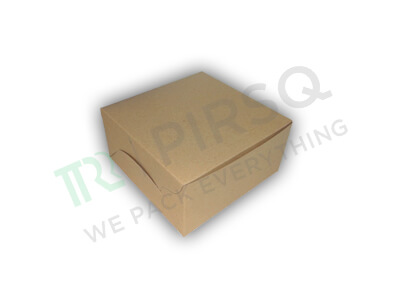 "Cake Box Brown Color | 5"" x 5"" x 3"" Image"