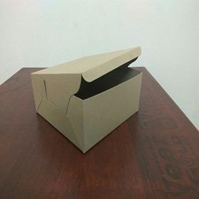 "Paper Box Brown Color | 2.5"" X 2.5"" X 1"" Image"