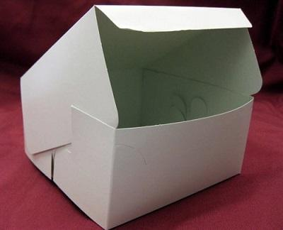 "Paper Box White  Color | 2.5"" X 2.5"" X 1"" Image"