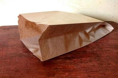 Folding Paper Bag Brown Color | 26 CM X 40 CM | 2.5 KG Image