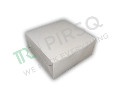 "Cake Box White Color | 7"" x 7"" x 3"" Image"