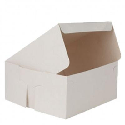 "Cake Box White Color | W -10"" x L -10"" x H - 4"" Image"