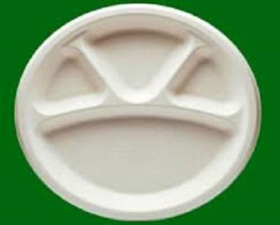 Bagasse Round Plate | 4 compartment | 12 Inch Image