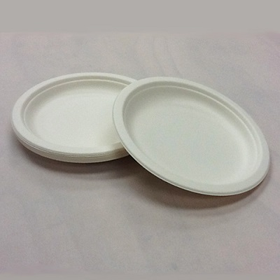 Bagasse Round Plate | 6 Inch Image