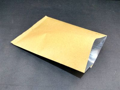 "Metalized Brown Color Paper Pouch | 8"" x 11"" Image"