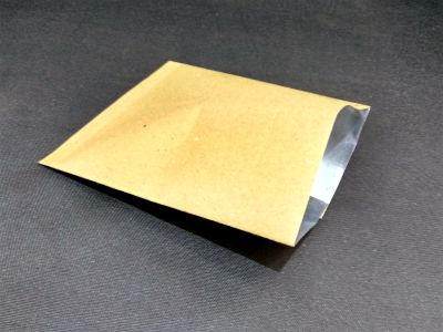 "Metalized Brown Color Paper Pouch | 7"" x 9"" Image"