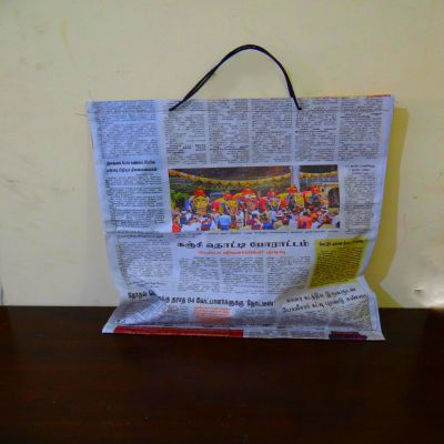 "Paper Bag With Handle | H-17"" x W-13"" 