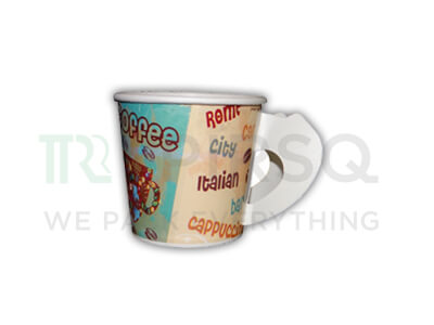 Paper Cup With Handle | 150 ML Image