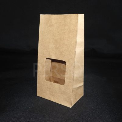 "Stand Up Paper Bag  Brown Color | H-9"" x W-4.5"" x B-3"" Image"