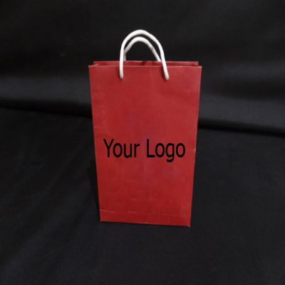 "Paper Bag With Handle | H-9"" x L-7"" x G-1.5"" Image"