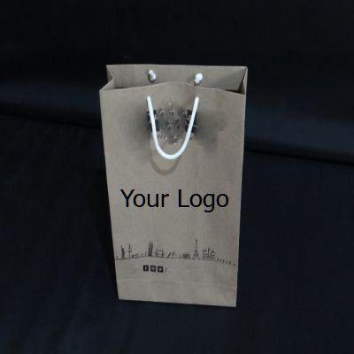"Paper Bag With Handle | H-13"" x W-9"" x G-3"" Image"
