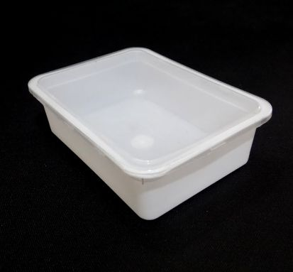 White Rectangular Plastic Container With Lid | 250 GRAM  Image