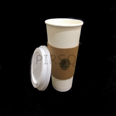 Customized Paper Cup With LID | 450 ML Image