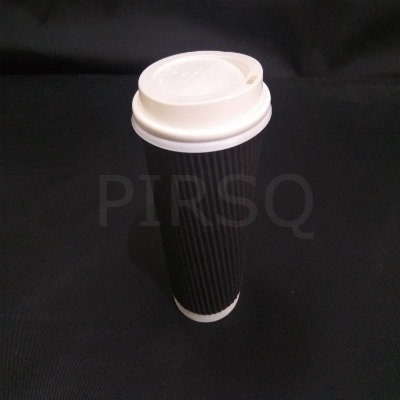 Rippled Paper cup With Lid | 450 ML Image
