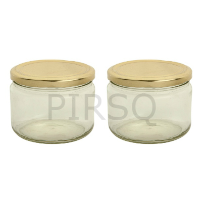 Glass Jar With Cap | 350 Gram Image