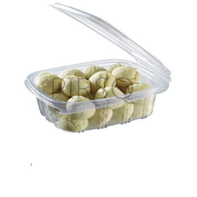 Plastic Container With Lid | Hinged | 500 ML  Image