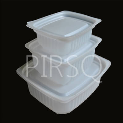 Biryani Container With Lid | Deli Tray Hips | 250 ML  Image