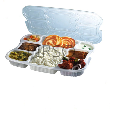 Plastic Tray With Lid | Superb Lunch Tray | 8 Compartment  Image