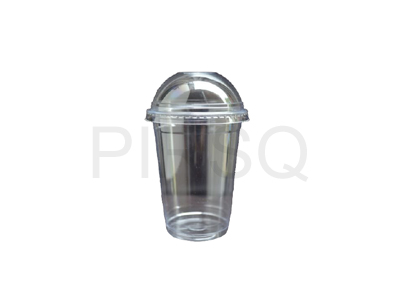 Plastic Glass With Lid | 300 ML Image