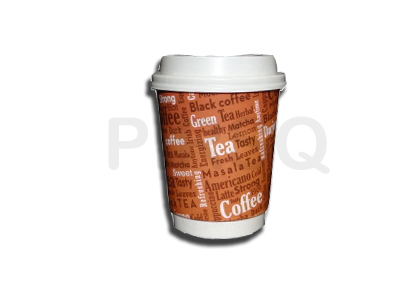 Customized Paper Cup With Lid | 250 ML Image