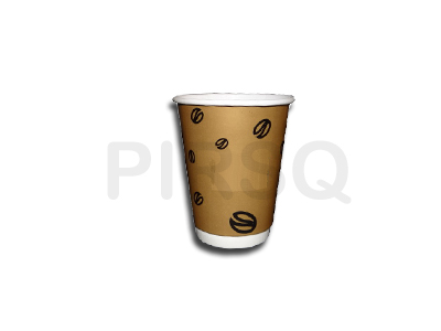 Customized Paper Cup With Lid | 350 ML Image