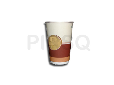 Customized Paper Cup With Lid | 400 ML Image