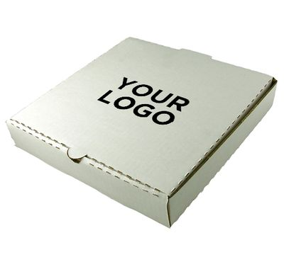 Pizza Box With Logo | White Color | 12 INCH Image