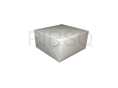 "Paper Box With Logo | W - 5"" X L - 5"" X H - 3"" Image"