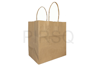 "Paper Bag with Handle | H - 8"" X W - 7.5"" X G - 5"" Image"