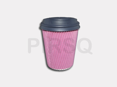 RIPPLED PAPER CUP | With Lid | 250 ML  Image