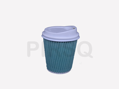 RIPPLED PAPER CUP | With Lid | 200 ML Image