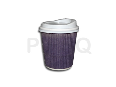 Rippled Paper Cup | With Lid | 210 ML Image
