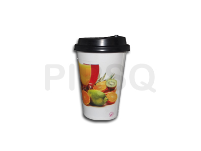 Paper Cup With Lid | Single Coated | 300 ML Image
