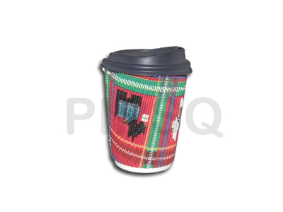 RIPPLED PAPER CUP With Lid | 250 ML Image