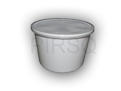 White Round Plastic Container | 1200 ML Image