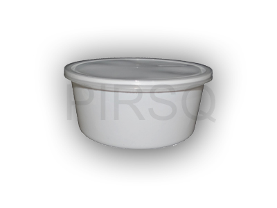 White Round Plastic Container | 850 ML Image