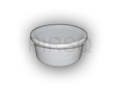 White Round Plastic Container | 250 ML Image