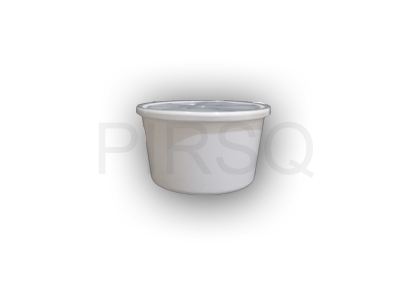 White Round Plastic Container | 1000 ML Image