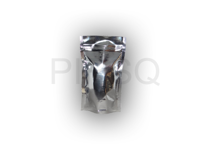 "Silver Stand up pouch With Ziplock | W - 3.5"" X H - 6"" Image"