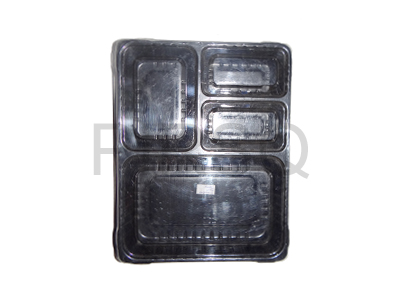 Meal Tray With Lid | 4 Compartment Image