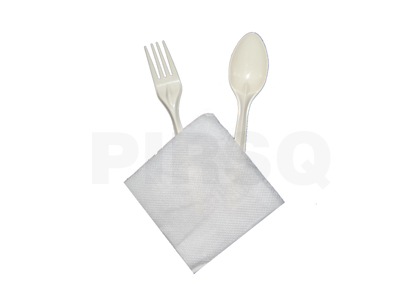 Cutlery Set | Fork | Spoon | Napkin Image