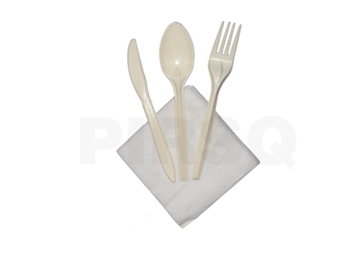 Cutlery Set | Knife | Spoon | Fork | Napkin Image