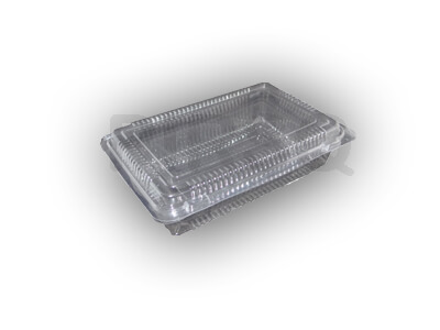 Transparent Sweet Box with lid | Square | 250 Grams Image